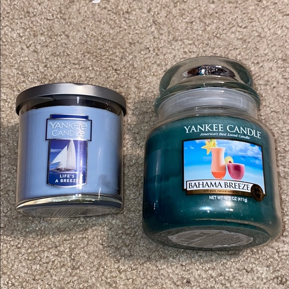 Yankee candle life's a breeze and Bahama breeze